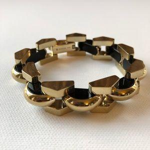 Fossil Chunky Gold & Black Link Statement Bracelet